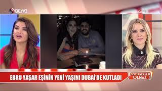 Ebru Yaşar eşinin yeni yaşını Dubai