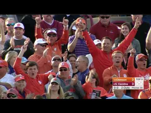 Clemson USC Baseball 3/5/17 Top 9th