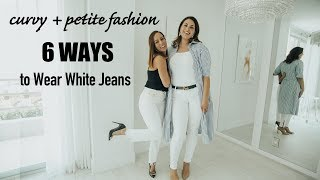 Curvy + Petite: How To Wear White Jeans