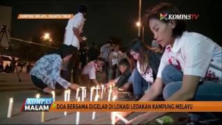 Warga Gelar Doa Bersama di Lokasi Ledakan Kampung Melayu