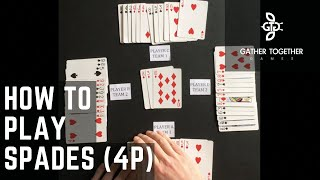 How To Play Spades (4 Player)