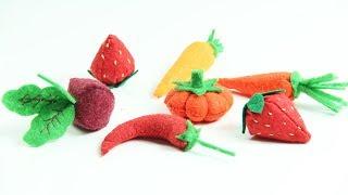 5 Felt Fruit And Vegetables - Felt Ideas - Fruit DIY Tutorial