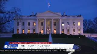 CBS This Morning, Jan 20th 2017, The Inauguration of Donald Trump (WCBS) 7:00-7:21 AM EST