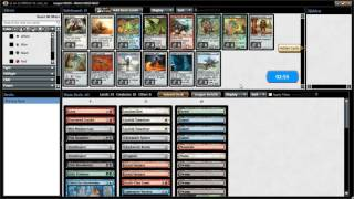 lets play mtgo : Flashback Triple Mirrodin Swiss Draft League R2