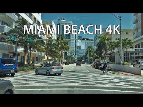 Driving Downtown - Collins Avenue - Miam