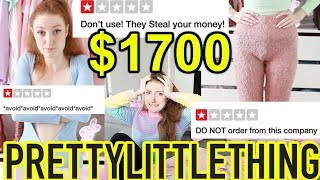 I SPENT $1700 AT PRETTY LITTLE THING!! HUGE HAUL AND TRY ON!