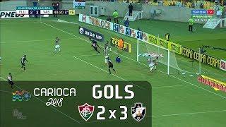 Gols - Fluminense 2 X 3 Vasco - Semifinal Carioca 2018 - Sportv HD⁶⁰