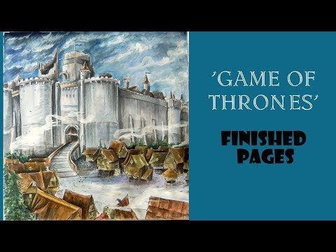 Game Of Thrones Coloring Book Finished Pages Review