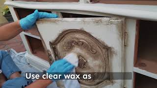 Renaissance Furniture Wax - How To Clear And Dark Wax