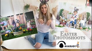 Easter Photoshoot | Allenjoy Studio Backdrops | Spring Mini Session Ideas