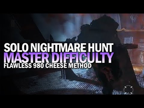 Solo Flawless Master Nightmare Hunt: Fear (980 Phogoth w/ Cheese) [Destiny 2 Shadowkeep]