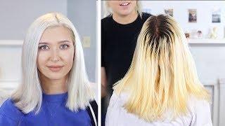 ICY WHITE PLATINUM BLONDE   DIY Hair Tutorial
