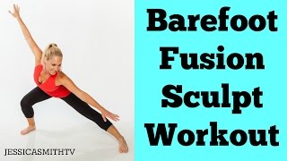 Full Workout Exercise Video for a Total Body Workout At Home | 20-Minute Barefoot Fusion Sculpt