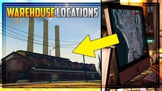 GTA 5 Finance & Felony DLC - ALL 20 WAREHOUSE LOCATIONS + Headquarters Building Search!