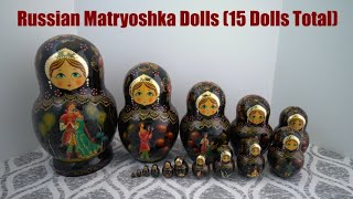 My Nesting Doll Collection #0038 – Russian Matryoshka (15 Dolls Total)