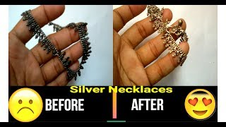 How to clean silver jewlery at home with salt water and lemon