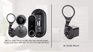 Nest Cam Indoor & Nest Hello Doorbell with AC Mount, Wall Plate and Angle Wall Mount | Wasserstein