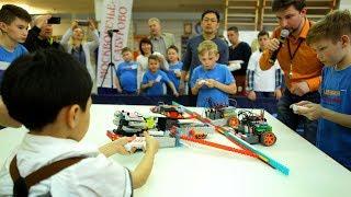 Битвы роботов на Олимпиаде по робототехнике Часть 2