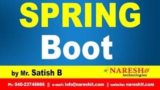 Spring Boot Introduction | Spring Boot Tutorial | Mr. Satish B