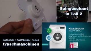 Waschmaschine Beko Teil 1 + Aufbau + Anschluss + Test