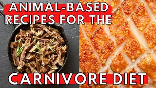 CARNIVORE FOOD IDEAS | 4 Easy Carnivore Diet Recipes (ZERO CARB)