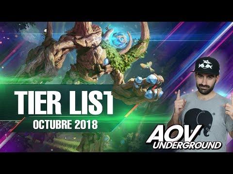TIER LIST DE OCTUBRE | Los mejores Héroes de Arena Of Valor