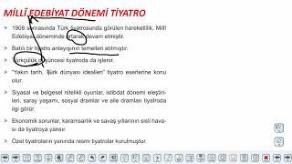 Eğitim Vadisi AYT Edebiyat 28.Föy Servetifünun ve Milli Edebiyat Tiyatrosu 2 Konu Anlatım Videoları