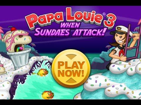Папа Луи: Атака Мороженого - Мультик Прохождение Игры