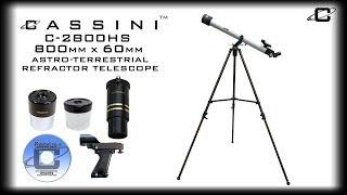 CASSINI C-2800HS 800mm x 60mm  Astro-Terrestrial Refractor Telescope