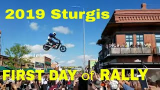 Sturgis 2019 Motorcycle Rally, FIRST DAY of RALLY, Main Street Sturgis, Black Hills Harley-Davidson