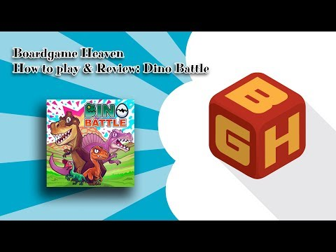 Boardgame Heaven How To Play & Review: Dino Battle