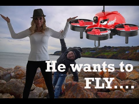 1st-fpv-flight-and-he-almost-crashed-the-tv-