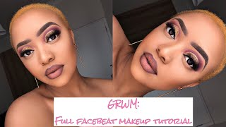 GRWM:full Face Beat Makeup Tutorial|Affordable Drugstore Products