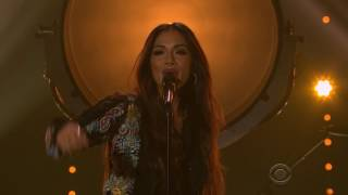 Nicole Scherzinger - Never Give Up ( The Late Late Show With James Corden)