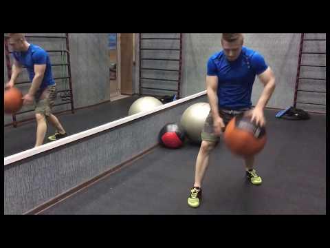 Мяч медицинский (волбол) WALL BALL 5 кг