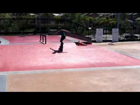 Amanda Castillo skate run at Carmel Valley Skatepark
