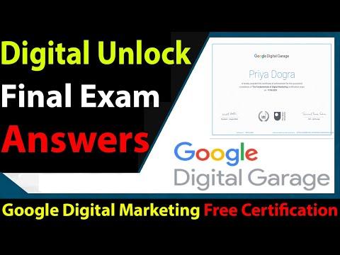 Google Digital Unlocked Final Exam Answers 2021 - YouTube