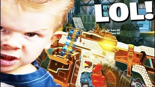 LITTLE KID gets ANGRY on BLACK OPS 4..😂