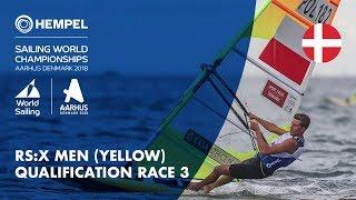 Full RS:X Men Yellow Fleet Qualification Race 3 | Aarhus 2018