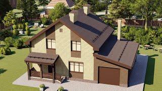 Проект дома 150-C, Площадь дома: 150 м2, Размер дома:  13,3x10,1 м