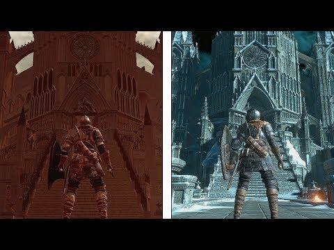 Dark Souls vs Remaster vs Dark Souls III   Anor Londo Comparison