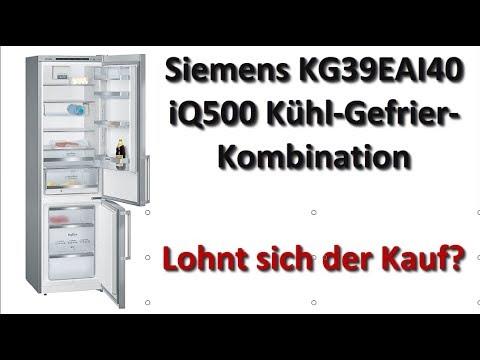 Siemens KG39EAI40 iQ500 Kühl Gefrier Kombination Test 2018 - Kaufen oder nicht'?