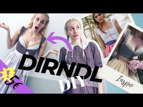 Thrift Flip #2 | DIRNDL NÄHEN für 5€! (auch für Anfänger! durch einfaches SECOND HAND DIY)