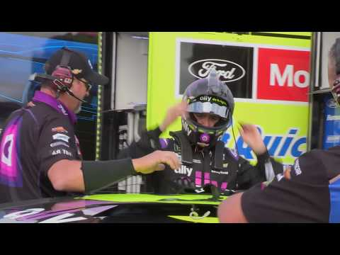 Raw footage of Jimmie Johnson climbing from car after wreck: Monster Energy Series at Indianapolis