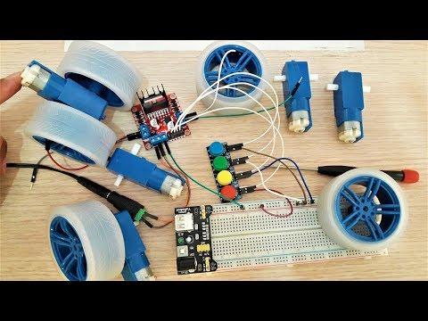 BANGGOOD Rubber Wheels TT Motor DIY Kit For Arduino Smart Chassis Car Accessories