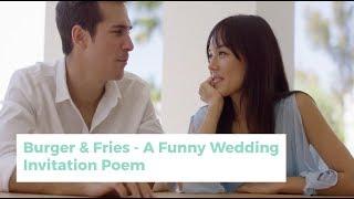 Burger Fries - A Funny Wedding Invitation Poem