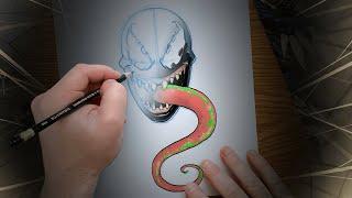 You Can Draw Venom! | Marvel Draw!