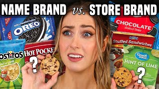 NAME BRAND vs GENERIC SNACKS Taste Test... Which one is ACTUALLY better??