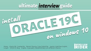 Oracle Database 19c Installation on Windows 10 and connect