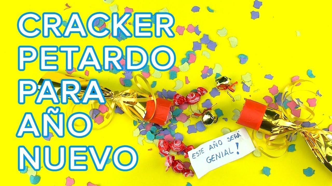 Cómo hacer un cracker o petardo sorpresa para fin de año | Manualidad  para niños